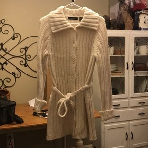 Express long button up wool cardigan